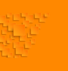 orange modern abstract background vector image
