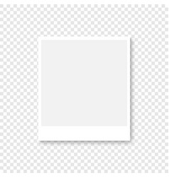 photo frame in white color with shadow on vector image