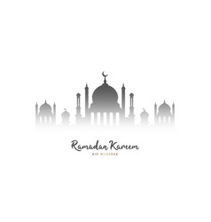 ramadan kareem background mosque silhouette on vector image
