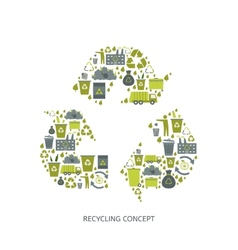 Recycling garbage icons vector