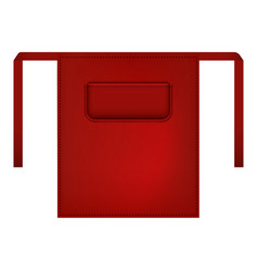 red small apron mockup realistic style vector image