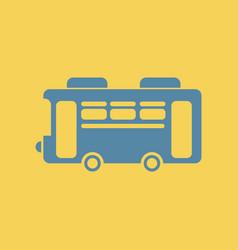 Retro bus vector