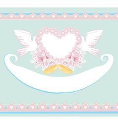 Romantic card with love birds - Wedding Invitation vector
