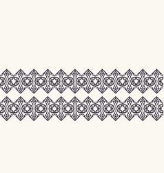 Seamless border pattern hand drawn ornamental vector