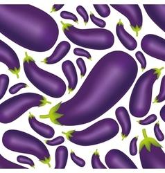 Seamless eggplant pattern vector