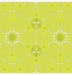 Seamless geometric green pattern background vector image