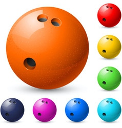 Set of bowling balls vector
