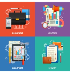 Set of flat design concept for business vector image