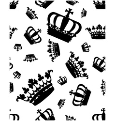 silhouettes crown vector image