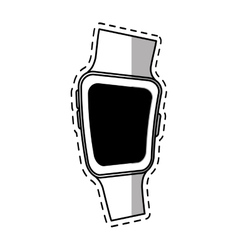 smart watch wearable modern device shadow vector image