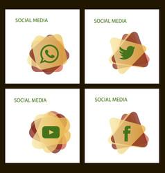 Social media icons facebook icon instagram icon vector