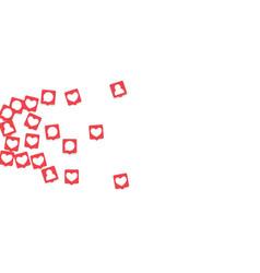 social media marketing background vector image