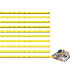 Steel measure tape vector