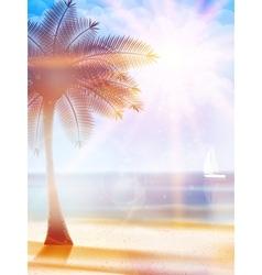 Summer hot holidays poster template vector
