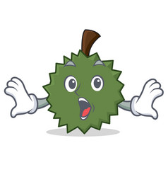 surprised durian mascot cartoon style vector image