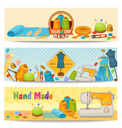 tailor elements horizontal banners vector image