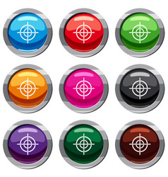 Target crosshair set 9 collection vector