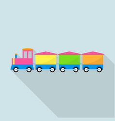 train toy with wagon icon flat style vector image