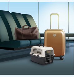 Travel with pet vector