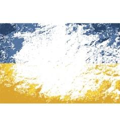 Ukrainian flag Grunge background vector image
