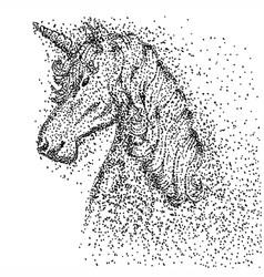 unicorn head particle vector image