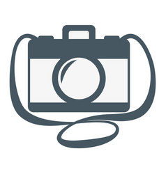 vintage camera catoon vector image