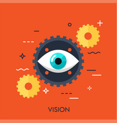 vision flat concept vector image