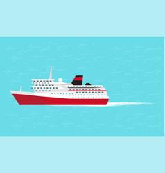 Water transport big comfortable liner vector