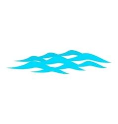 Waves ripple icon cartoon style vector