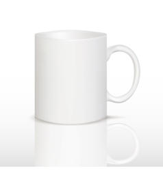 white cup on table vector image
