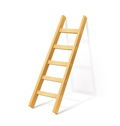 wooden step ladder vector image vector image