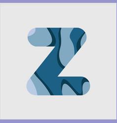 Z water font template design vector