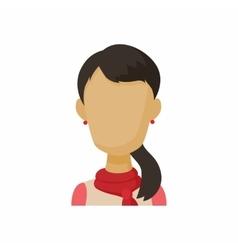 Avatar brunette woman icon cartoon style vector image