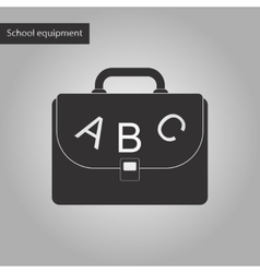 black and white style icon of school bag backpack vector image