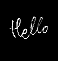 hello modern brush calligraphy vector image vector image