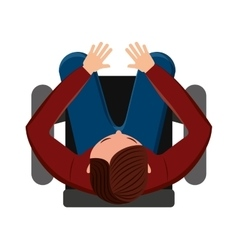 person seated in office chair vector image