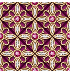vintage gold jewelry pattern vector image vector image