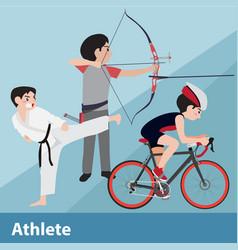 athletic sport cartoon set vector image