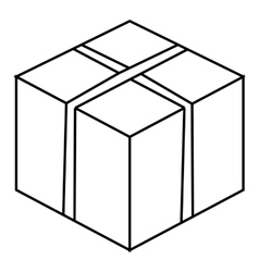 Big box icon outline style vector image
