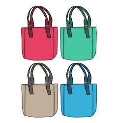 fashion bag design vector image