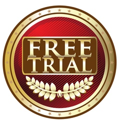 Free Trial Red Emblem vector image vector image