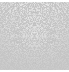 gray background with oriental decorations vector image vector image