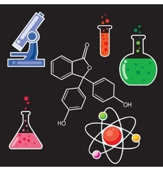 Icons set for chemist vector image