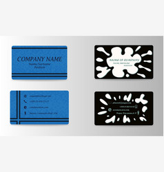 Modern creative and trending business visit cards vector