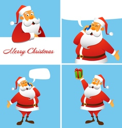 Set of four Christmas and New Year greeting cards vector image vector image