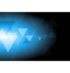 Dark blue tech background vector image vector image