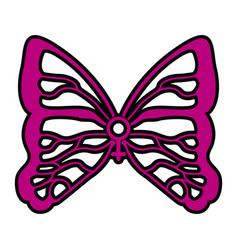 female gender symbol with butterfly wings vector image