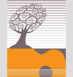 Festive music poster template vector image