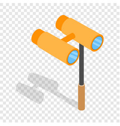 opera glasses isometric icon vector image