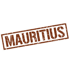 mauritius brown square stamp vector image